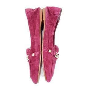 Topshop Shoes - Topshop burgundy loafer with gold tone hardware sz